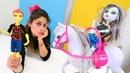 Monster High Frankienin doğum günü! Pasta yapımı ve hediye seçme oyunu.