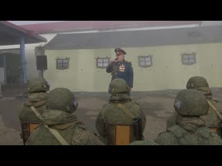 Ансамбль песни и пляски выступил перед миротворцами в Карабахе