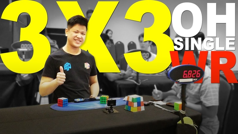 WR 6 82 OH Rubik's Cube 3x3 One handed World Record Single