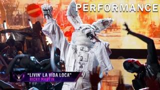 Rabbit sings Livin' La Vida Loca by Ricky Martin   THE MASKED SINGER   SEASON 1