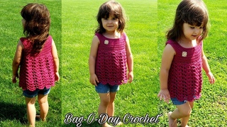 How To Crochet - A Toddler Summer Top | Lil' Ruby Rose | Bag O Day Crochet Tutorial #508