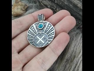 Макошь Лунница с камнем