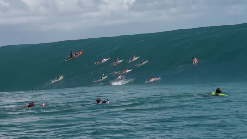 Nathan Florences Impossible Paddle-in Wave at Teahupoo