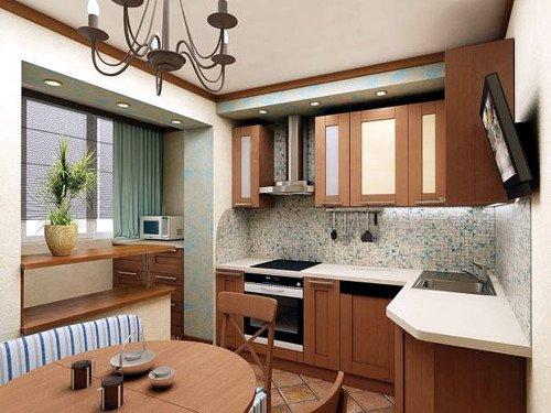 кухня увеличена за счет коридора