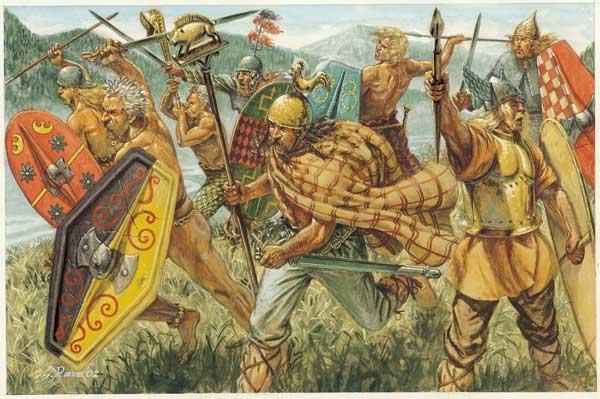 Первый лулз связан уже с самым началом войны. Галлы щемили один дружественный римлянам городок, и Рим послал трех братьев послами, для того чтобы они выступили посредниками в переговорах. Послы послушали галлов (те требовали земель в качестве компенсации), а потом горожан (те давать ничего не хотели), и... приняли участие в следующей вылазке осажденных, поубивав кучу галлов и героически себя проявив. Проблема была в том что их узнали, а участвовать в боях будучи послом это вообще страшное святотатство. После чего галлы посылают уже своих послов в Рим, требовать справедливости. И там… Народное Собрание назначает всех троих братьев народными трибунами, которые неподсудны до конца своих полномочий, чем вертят галльских послов на пилуме в очень грубой форме. Галлы пожимают плечами, снимают осаду, идут на Рим, вырезают римскую армию, сжигают город и осаждают Капитолий.