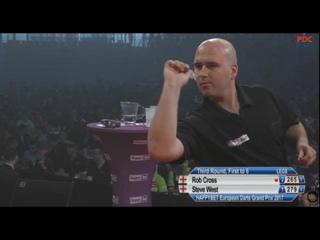 Rob Cross vs Steve West (European Darts Grand Prix 2017 / Round 3)