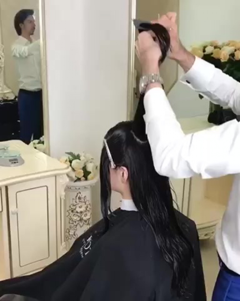 Георгий Кот Женская стрижка на длинные волосы