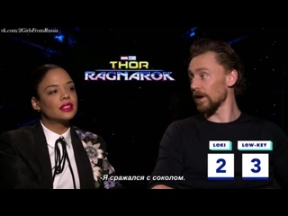 Tom Hiddleston and Tessa Thompson Play Loki or Low-key - Oh My Disney Rus(sub)