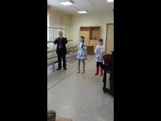 Выступление Екатерины Целищевой, 5А класс