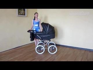 Коляска - люлька Maxima Classic Кожа (Максима Классик) в черном цвете - Видеообзор