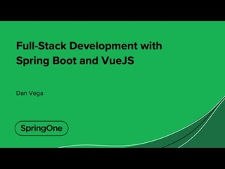 Full-Stack Development with Spring Boot and VueJS