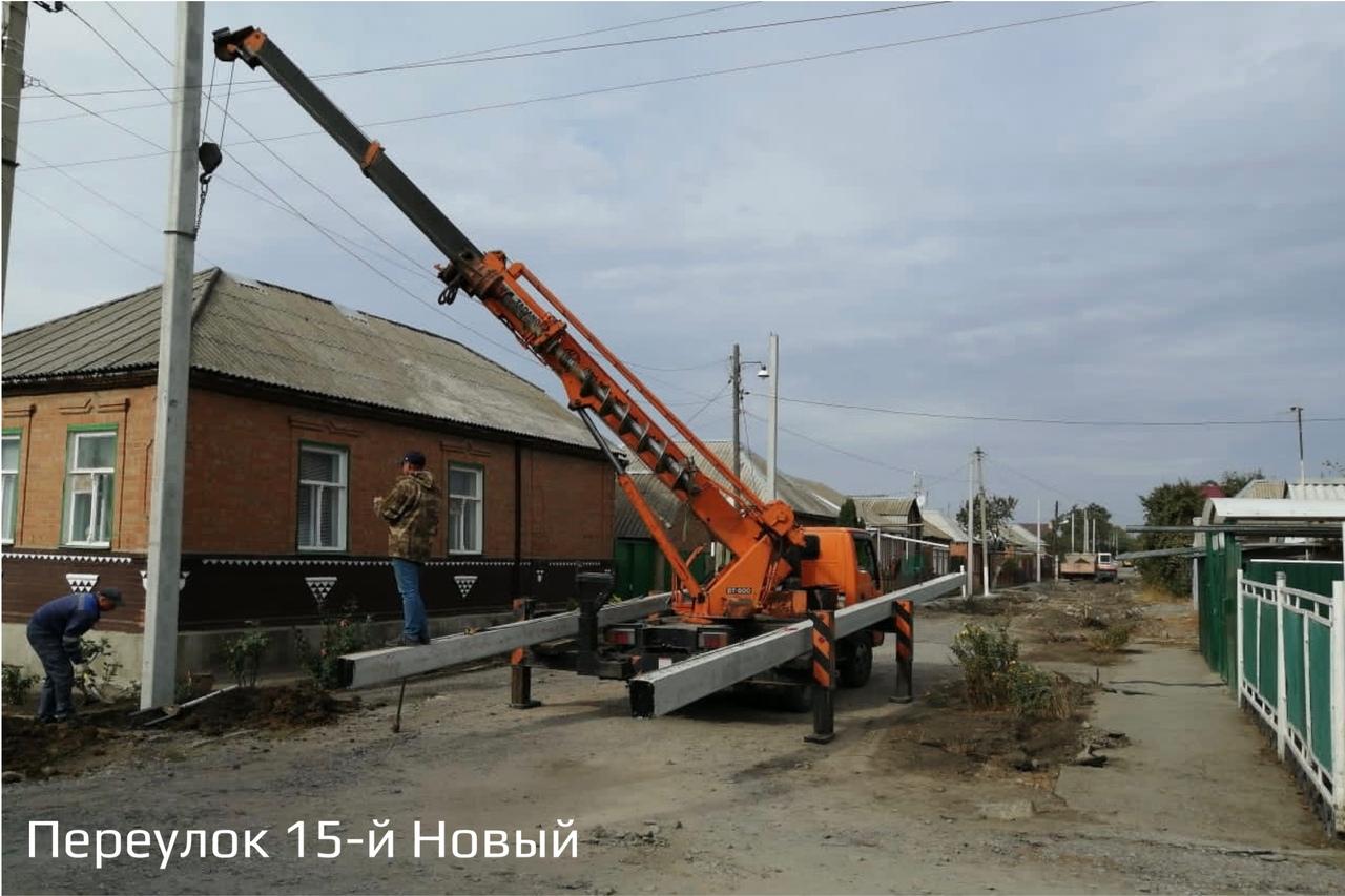 В Таганроге продолжаются дорожные работы на улице Мирная и в 15-ом Новом переулке
