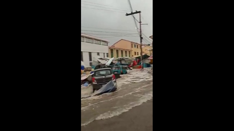 2195 Боливия Дождь Град Город Сукре 4 января 2021