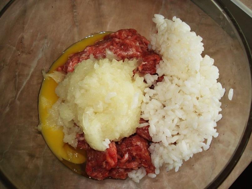 Тефтели с рисом и