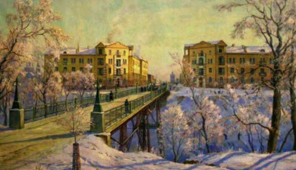 Штапской мост и дома-близнецы