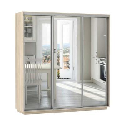 Шкаф Экспресс Экспенс трио (фасад зеркало) ш 2400