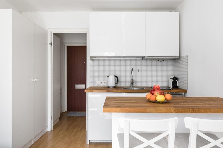 Маленькая скандинавская квартира-студия 18,5 кв.