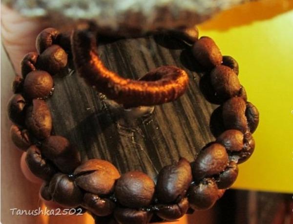 как сделать елочку из кофейных зерен своими руками,