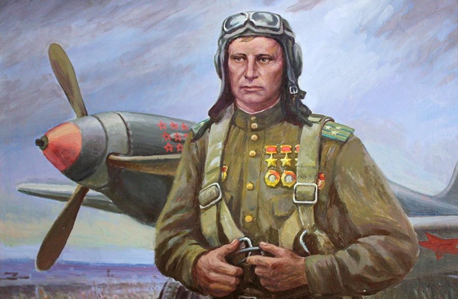 Первый в истории трижды Герой Советского Союза летчик-истребитель А.И. Покрышкин