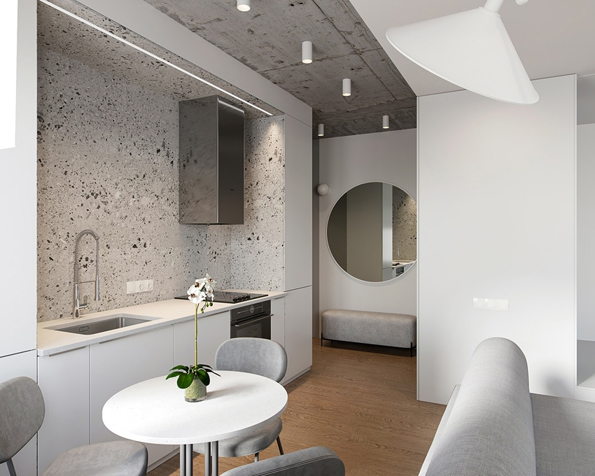 Проект квартиры-студии 39 м.
