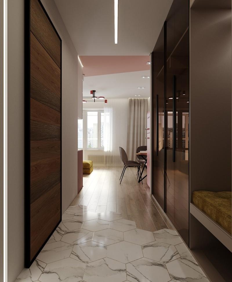 Концепт квартиры-студии 29 кв.