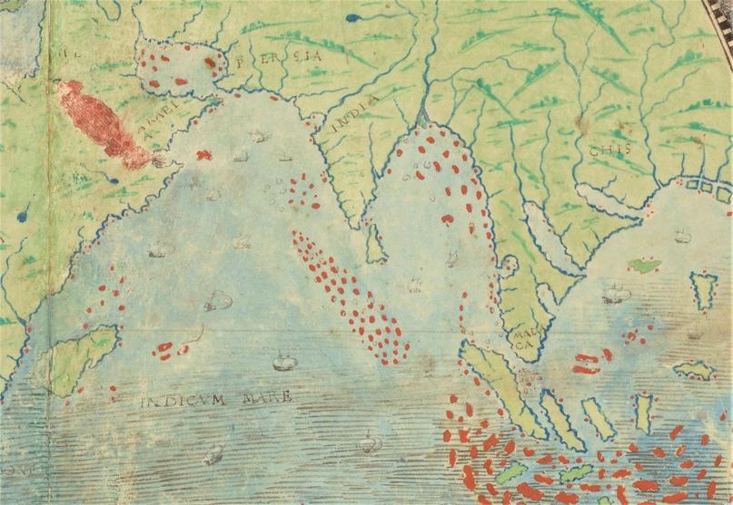 Фрагмент карты мира из Атласа Миллера (1519)