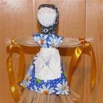 Домашняя кукла Масленица из лыка (МК)
