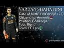 Vardan Shahatuni/Goalkeeper 2019/20