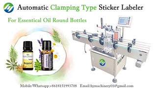 Automatic Clamping Type Sticker Labeling Machine for Essential Oil Round Bottles Labeler