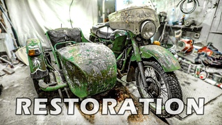 """""""USSR heavy GIANT"""" full RESTORATION from Trash to Incredible GOLD Motorcycle 