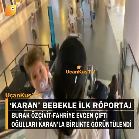"""UçanKuş TV on Instagram """"BURAK FAHRİYE VE KARAN'IN İLK RÖPORTAJI Ünlü oyuncu Burak Özçivit, eşi Fahriye Evcen ve oğulları Karan ile Bodrum'da bir AVM'de…"""""""