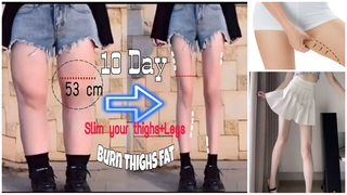 10 Min Exercises Thighs And Legs   Get slim thighs & legs in 10 day   Bài tập CHÂN và ĐÙI hiệu quả