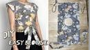 DIY Simple Wrap Top / Rectangle shirt / Summer Crop top Tutorial / For Bigginer