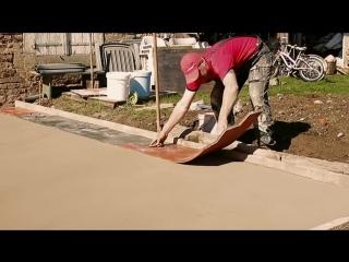 Как сделать имитацию доски из бетона  .mp4
