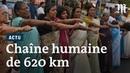 Ces Indiennes font la chaîne sur 620 km pour l'égal accès à un temple