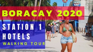 Complete BORACAY Station 1 Hotels | Boracay Island Philippines Beachfront Hotels Walking Tour 2020