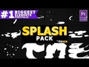 Hand Drawn Liquid Splashes Premiere Pro MOGRT Envato Templates