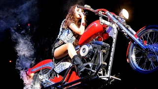 Miley Cyrus - I Love Rock 'n' Roll - Miley Flying on a Motorcycle
