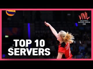 Top 10 Servers Womens VNL Volleyball 2019