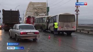 Шесть человек пострадали в ДТП с участием двух пассажирских автобусов в Архангельске