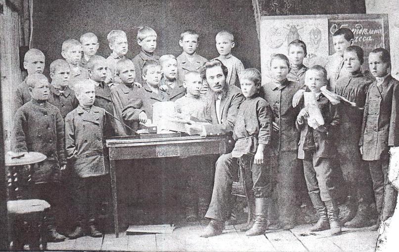 учащиеся городского училища. Чердынь.1890 г.
