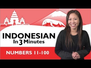 Learn Indonesian - Indonesian in Three Minutes - Numbers 11-100