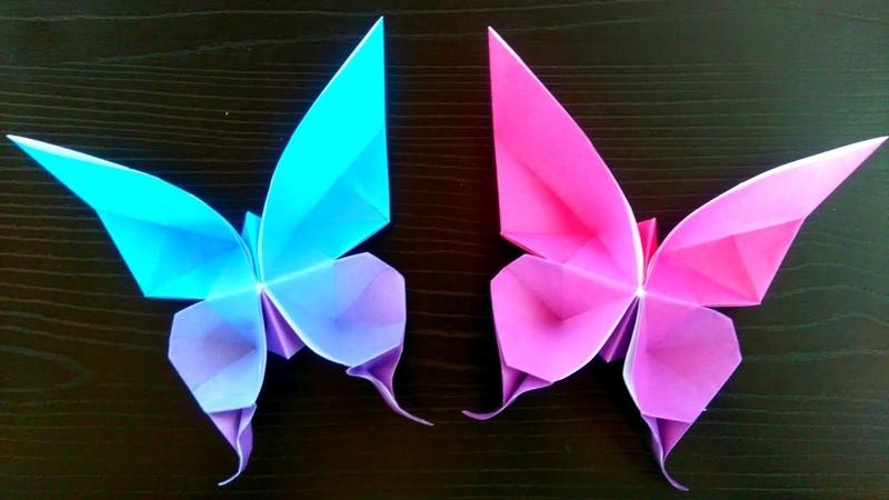 Origami Mariposa 🦋 Mariposa realista de papel facil con un cuadrado de papel