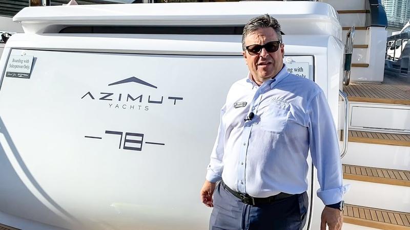 Incredible New Yacht | 2020 Azimut 78 Flybridge | 2020 Miami Yacht Show