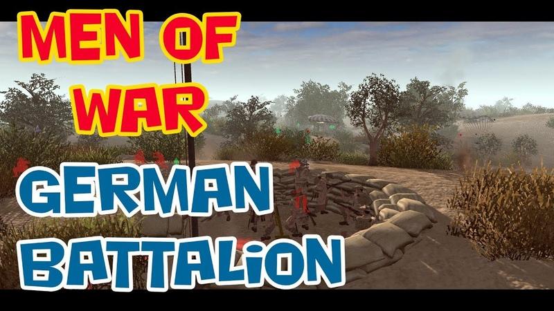Стратегия про Вторую Мировую В Тылу Врага Штурм 2 Men of War mod German Battalion Крит