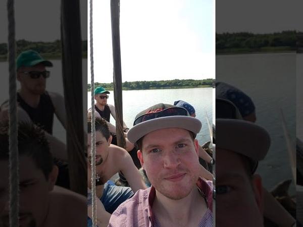 Поход 13 и смолян по озеру Каспля в день Военно морского флота на копии корабля варягов Форнкор 3