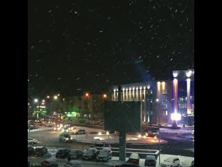 Снегопад в Липецке