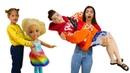 Видео куклы Барби - Кен стал Как Мама для Челси и Штеффи! - Смешные видео игры для девочек с Barbie