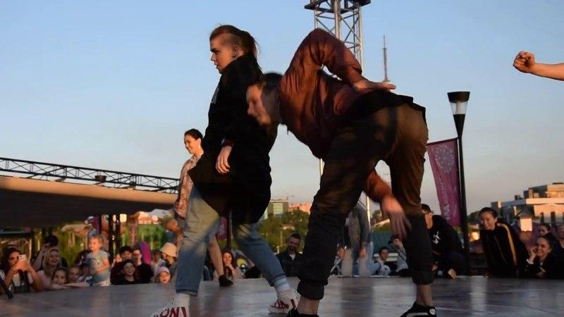 Liza and Lerock vs Skitz Vicious and Naimon all style Модные танцы 2018