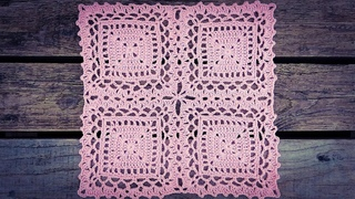 Crochet Lace Square Motif Tutorial Part 2 - How To Join As You Go